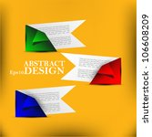 abstract vector paper progress... | Shutterstock .eps vector #106608209