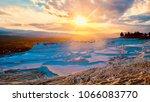 landscape of pamukkale  turkey. ... | Shutterstock . vector #1066083770