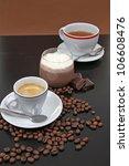 coffe tea and choco cream | Shutterstock . vector #106608476