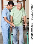 physical therapist assisting... | Shutterstock . vector #106608980