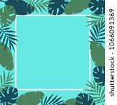 summer tropical leaves...   Shutterstock .eps vector #1066091369