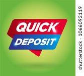 quick deposit arrow tag sign.   Shutterstock .eps vector #1066092119