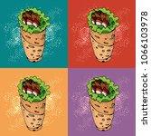 pop art seamless pattern of... | Shutterstock .eps vector #1066103978