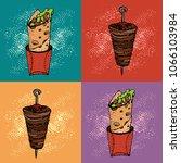 pop art seamless pattern of... | Shutterstock .eps vector #1066103984