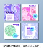 covers with marble texture.... | Shutterstock .eps vector #1066112534
