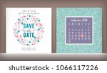 save the date. wedding... | Shutterstock .eps vector #1066117226