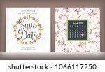 save the date. wedding... | Shutterstock .eps vector #1066117250