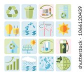 colorful set of sustainable... | Shutterstock .eps vector #1066120439