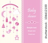 baby shower   girl | Shutterstock .eps vector #106612100