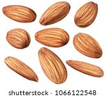 nuts collection. raw almond... | Shutterstock . vector #1066122548
