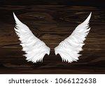wings. vector illustration on... | Shutterstock .eps vector #1066122638