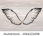wings. vector illustration on... | Shutterstock .eps vector #1066122698