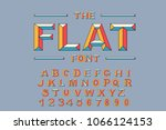 vector of modern bold font and... | Shutterstock .eps vector #1066124153
