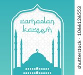 ramadan greeting card design.... | Shutterstock .eps vector #1066126553