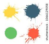 set of colorful ink splash ... | Shutterstock . vector #1066129058