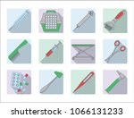 veterinary icons. vector... | Shutterstock .eps vector #1066131233