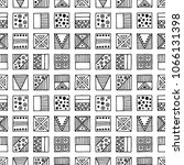 seamless pattern. black and... | Shutterstock . vector #1066131398