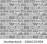seamless pattern. black and... | Shutterstock . vector #1066131404