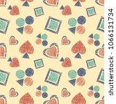 seamless geometrical pattern... | Shutterstock . vector #1066131734