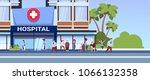 different patients walking to... | Shutterstock .eps vector #1066132358