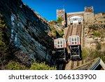 east hill cliff railway or lift ... | Shutterstock . vector #1066133900