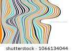flowing lines and waves  retro... | Shutterstock .eps vector #1066134044