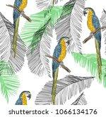 tropical seamless vector... | Shutterstock .eps vector #1066134176