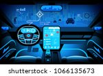 automobile cockpit  various... | Shutterstock .eps vector #1066135673