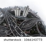 aerial view of highway and... | Shutterstock . vector #1066143773