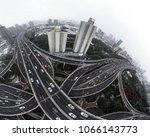 Aerial View Highway Overpass City - Fine Art prints