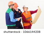 team of builder  engineer ... | Shutterstock . vector #1066144208