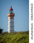 Small photo of View of Lighthouse of Saint Mathieu in Brittany in France in Brittany in France