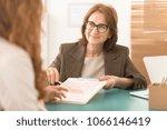 professional advisor working... | Shutterstock . vector #1066146419
