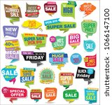 modern sale stickers and tags... | Shutterstock .eps vector #1066147100