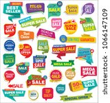 modern sale stickers and tags... | Shutterstock .eps vector #1066147109