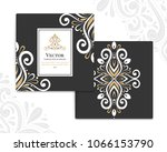 gold and white vintage greeting ... | Shutterstock .eps vector #1066153790
