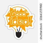 good idea sticker in retro... | Shutterstock .eps vector #1066155980