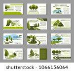 landscape design studio... | Shutterstock .eps vector #1066156064