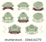 set quality labels for natural... | Shutterstock .eps vector #106616270