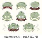 set quality labels for natural... | Shutterstock .eps vector #106616270