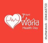 vector world health day design...   Shutterstock .eps vector #1066163723