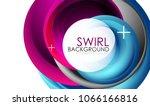 spiral swirl flowing lines 3d... | Shutterstock .eps vector #1066166816