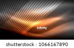 shiny straight lines on dark... | Shutterstock .eps vector #1066167890