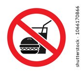 no food allowed symbol ... | Shutterstock .eps vector #1066170866