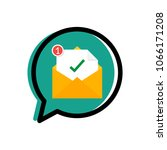 new email notification in a... | Shutterstock .eps vector #1066171208