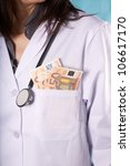 Female Doctor With Money In He...