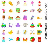 play in park icons set. cartoon ... | Shutterstock . vector #1066172720