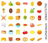 curing icons set. cartoon style ... | Shutterstock . vector #1066172750
