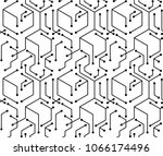 abstract block electronic line... | Shutterstock .eps vector #1066174496