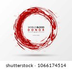 creative blood donor day... | Shutterstock .eps vector #1066174514